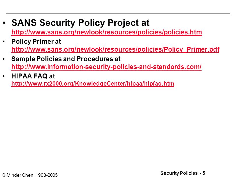 Security Policies And Procedures - Ppt Download