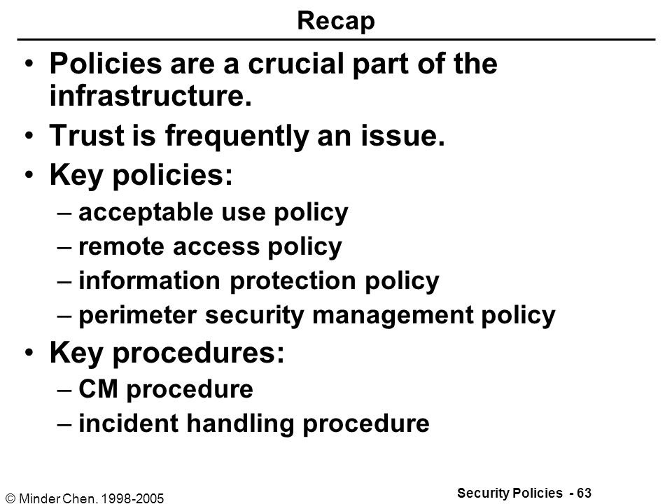 it infrastructure security policy The sample security policies, templates and tools provided here were contributed by the security community feel free to use or adapt them for your own organization (but not for re-publication or.