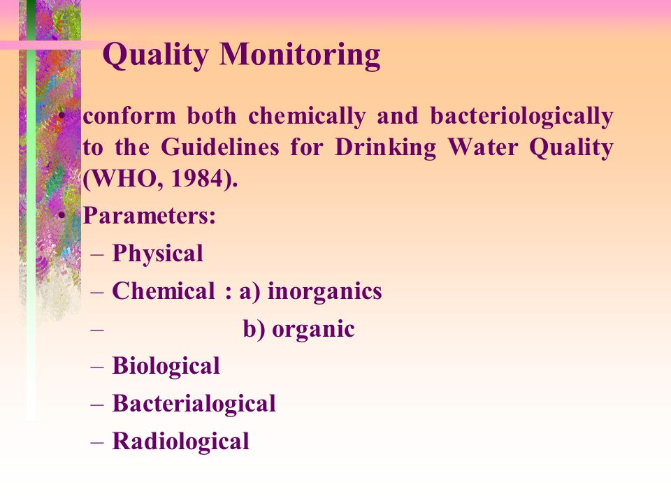 who water quality guidelines pdf