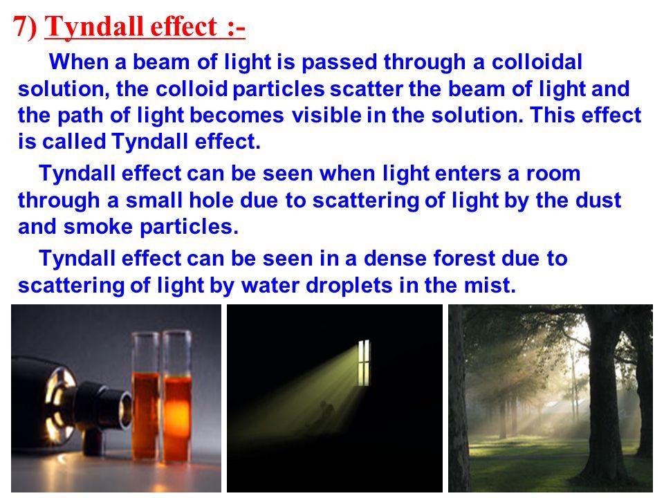 7) Tyndall effect :-