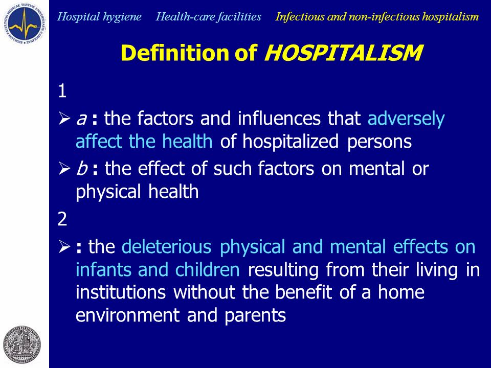 effects of hospital care environment on Hospital care and the elderly adverse drug effects account for at least 5% of hospital admissions for the elderly changes in the hospital environment.