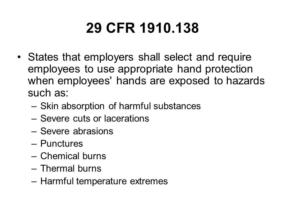 29 CFR 1910.138