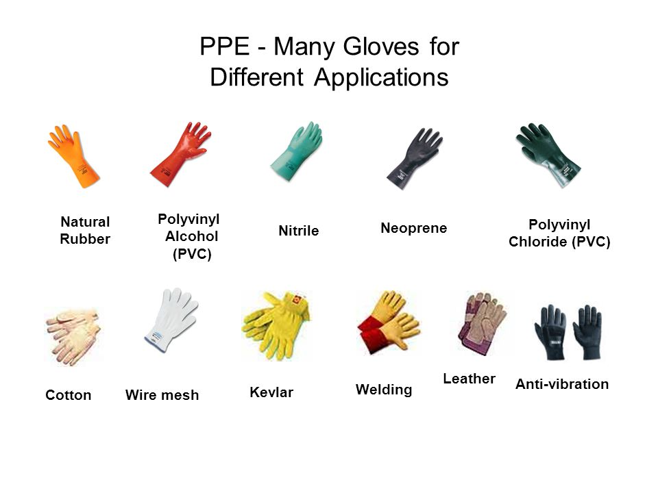 PPE - Many Gloves for Different Applications