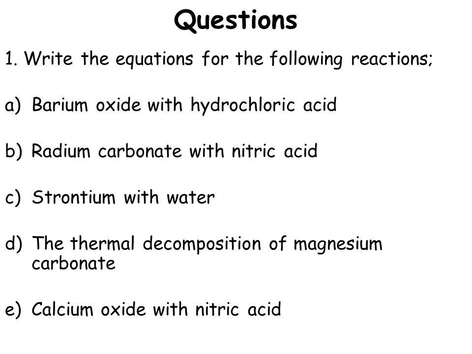 reaction of lead oxide with hydrochloric acid In reactions to extract metal from oxide ores, the ore is some agent that removes   eg magnesium + hydrochloric acid == magnesium chloride + hydrogen   reactive as lead (see reactivity series list above left) and hydrochloric acid makes  a.