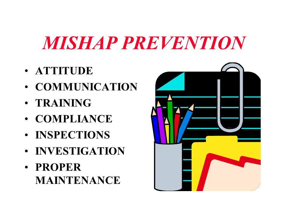 MISHAP PREVENTION ATTITUDE COMMUNICATION TRAINING COMPLIANCE