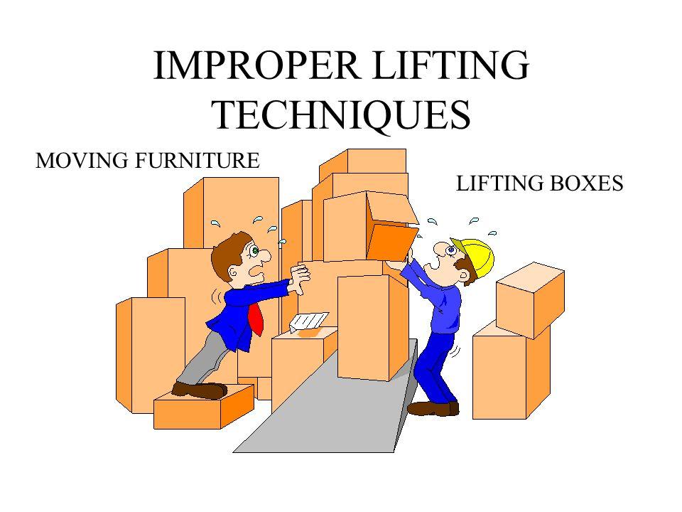 IMPROPER LIFTING TECHNIQUES