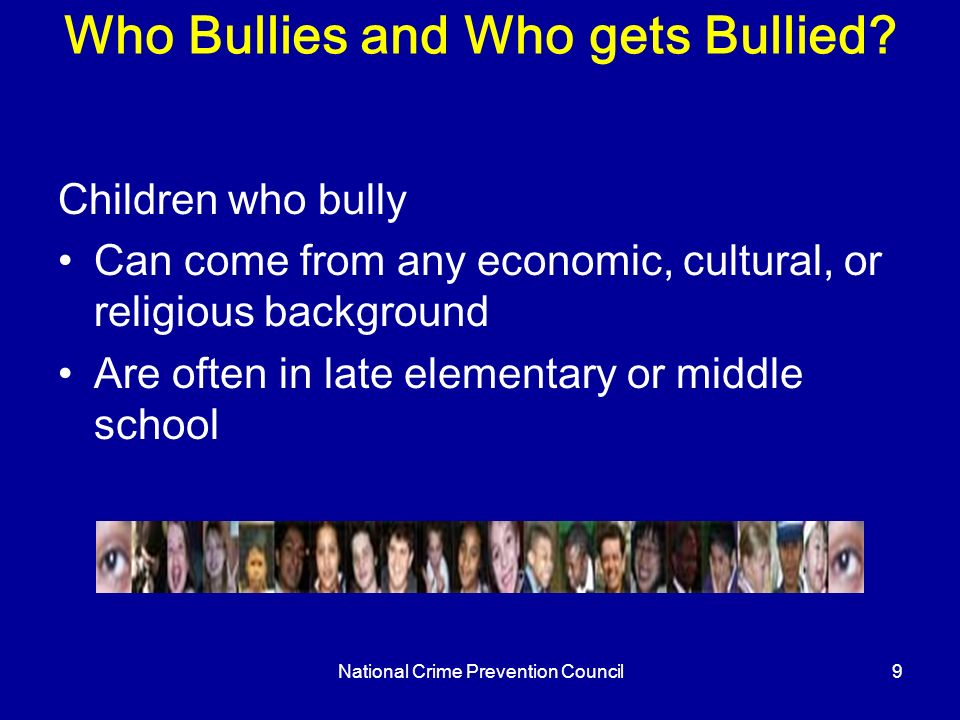 Bullying Welcome all participants to the presentation. Introduce ...
