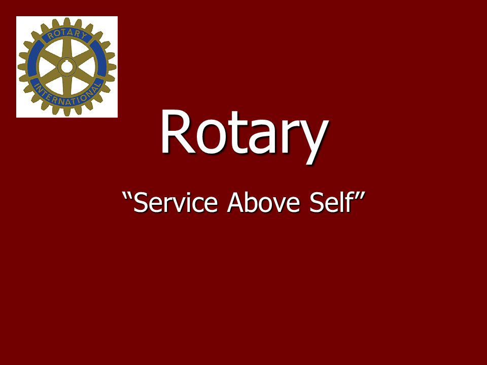 Rotary Service Above Self