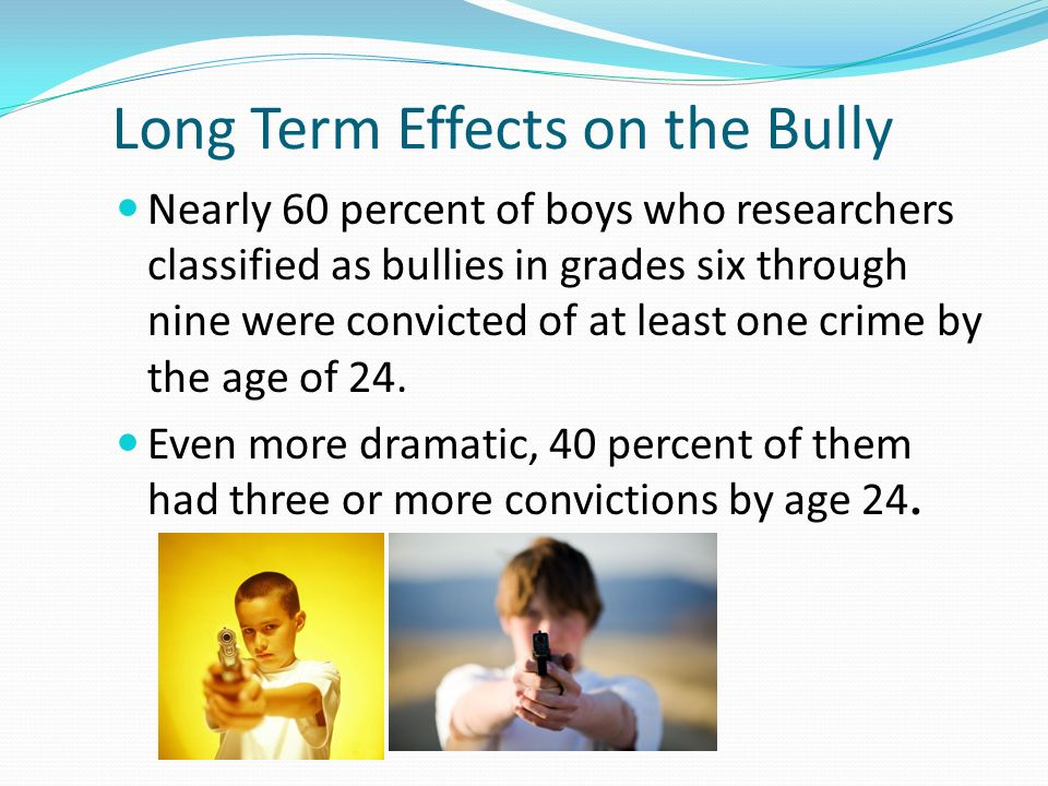 the effects of bullying Workplace productivity effects workplace bullying has effects on those who witness it as well as those who experience it, affecting the overall health of an organization.