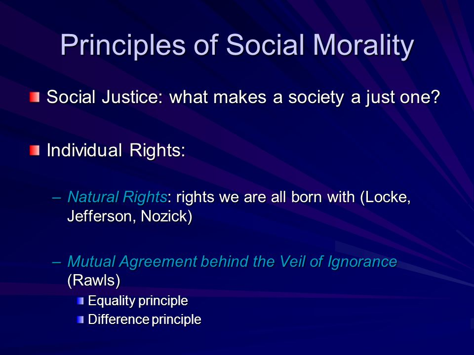 the natural law as the basis for human morality and justice Recent criticism of natural law theory natural law and justice at 7 to transfer the problem of the normative basis of human exis.