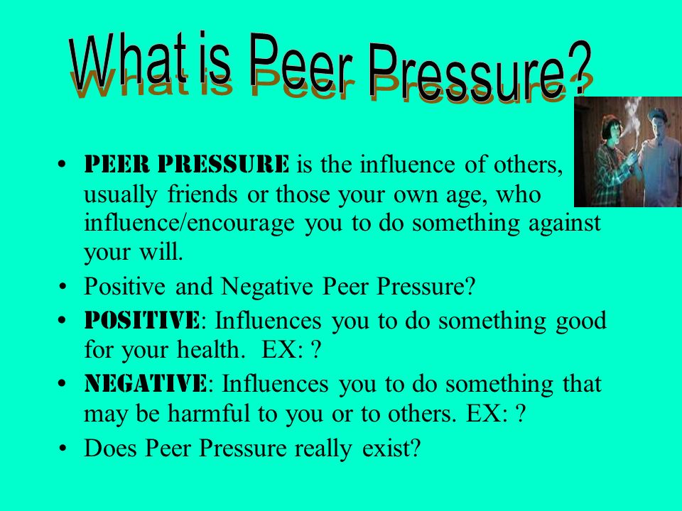 Peer pressure introduction