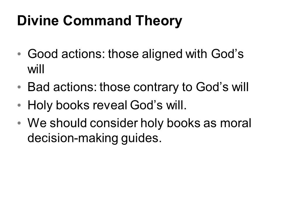 Why a Christian should accept a Divine Command Theory, part 1