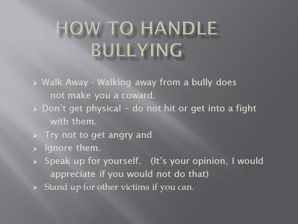 How to Handle a Workplace Bully