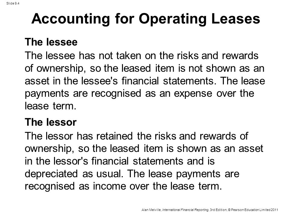 Lease accounting