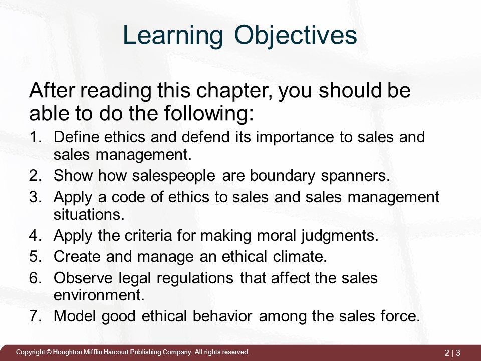 sales and ethics Looking for your california ethics course click here as a real estate  professional, you're likely to encounter unexpected ethical dilemmas as you go  about your.