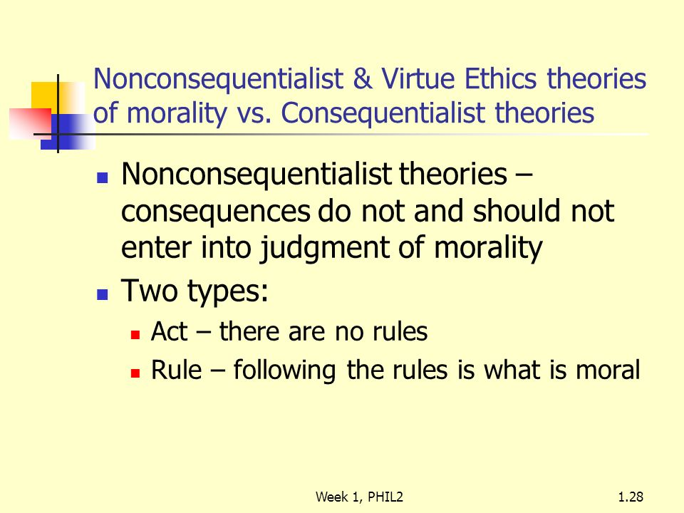 non consequentialist theory essay In this essay, i explicate and defend a consequentialist account of the right of   on the ethics of war do so in a non-consequentialist way, whether they adopt a.
