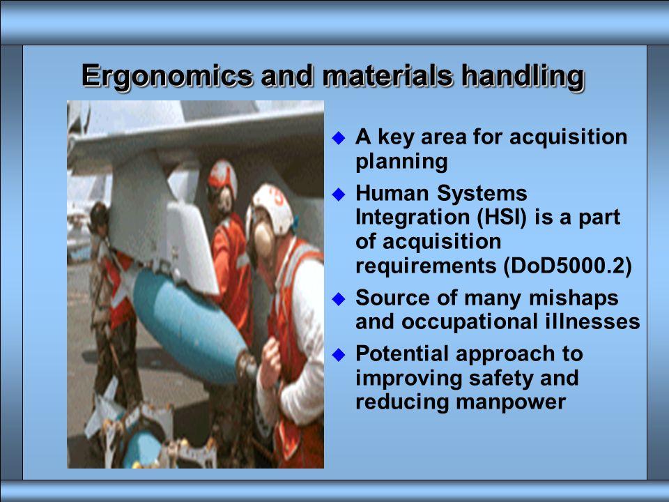 Ergonomics and materials handling