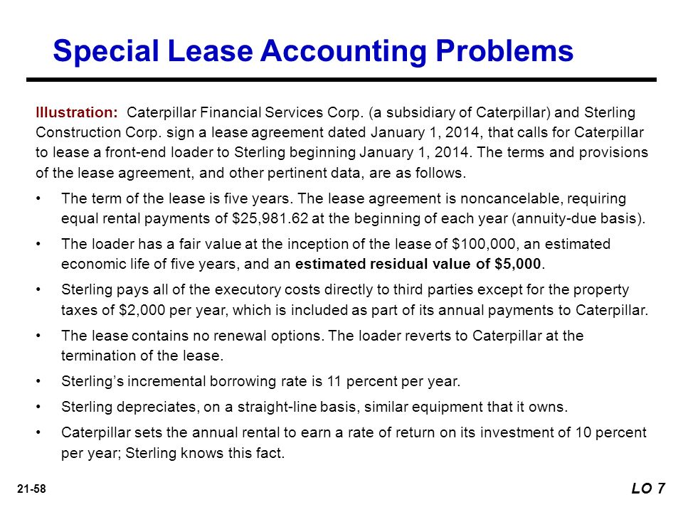 corporate accounting part 1 lease A typical lease is often long term, ranging from 1 year to as many as 10 or 20  years  from an accounting and tax perspective leases typically fall into two  main.