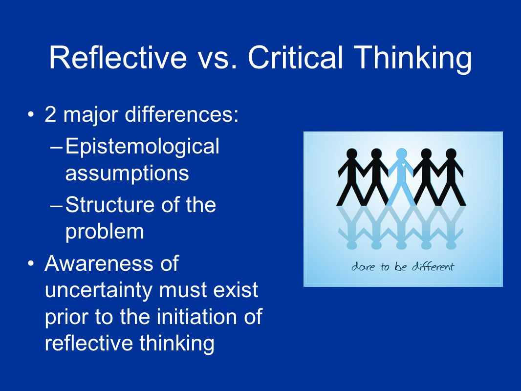reflective paper on critical thinking 1 example reflective essay for critical thinking and writing for nursing students bob price and anne harrington this example of a reflective essay is presented in.
