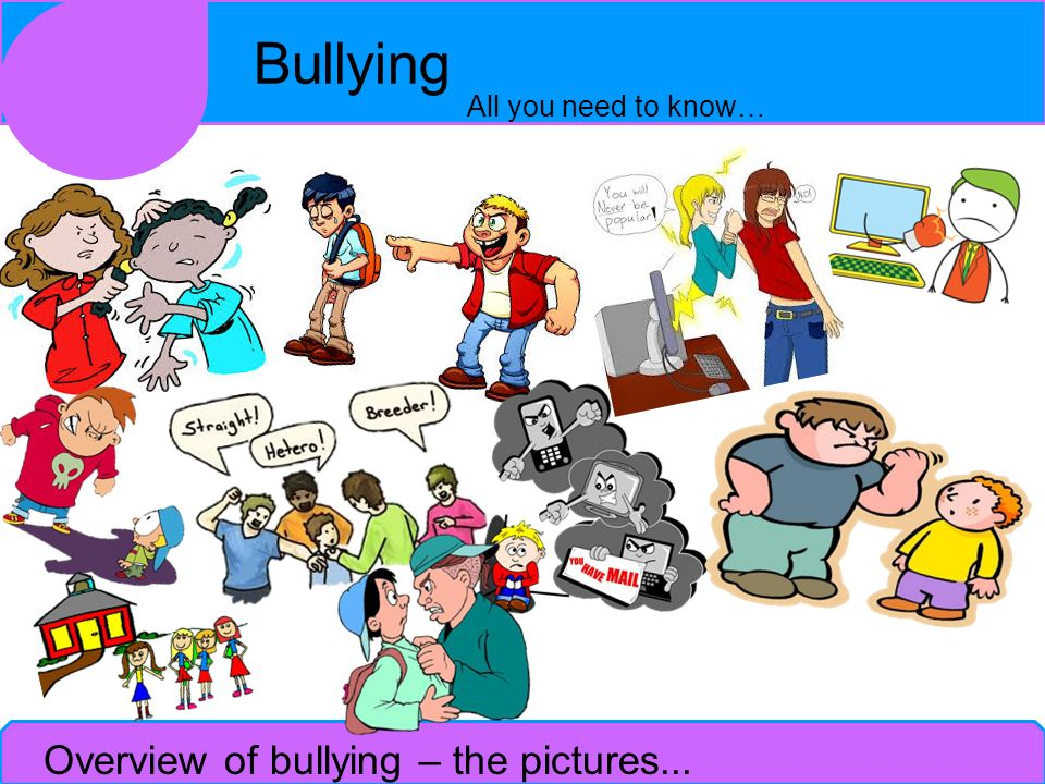 Overview of bullying – the pictures...