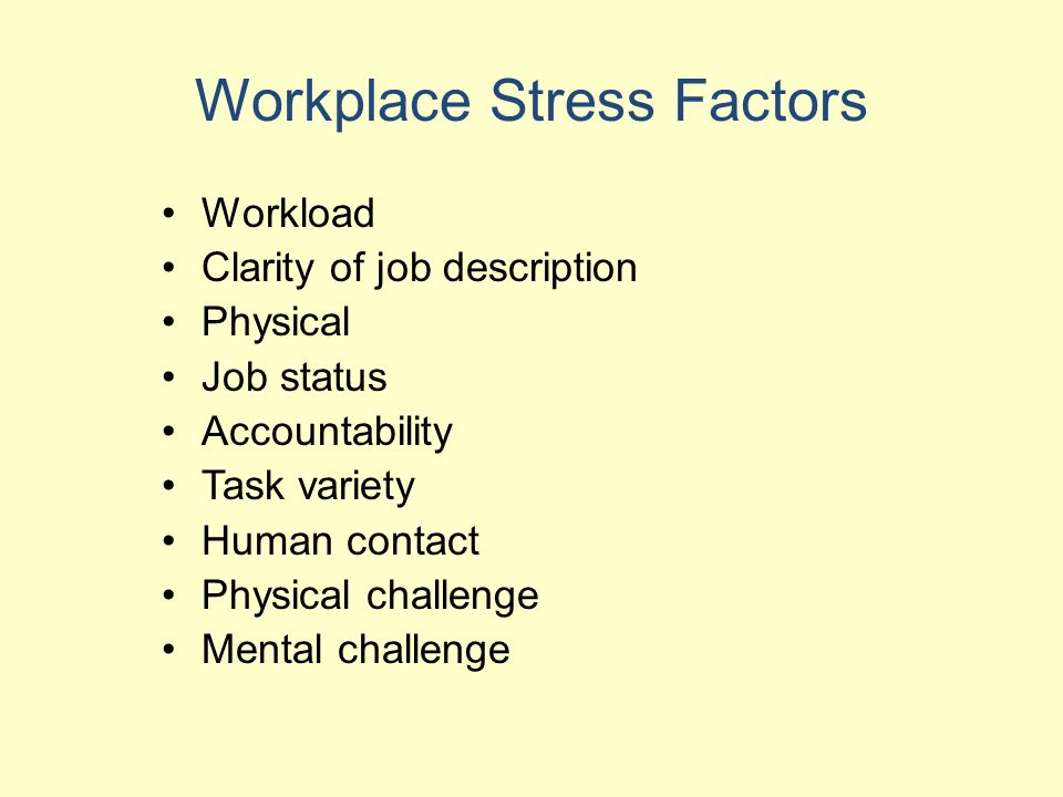 problems of occupational stress in health care workers Occupational health for health care providers exposure to stress: occupational hazards facts about hospital worker safety (occupational safety and health.