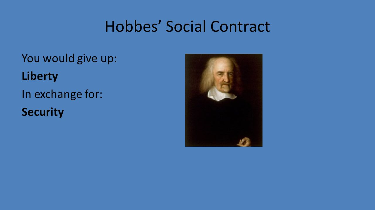 hobbes on social contract The social contract is a model that describes the origin of society and the legitimacy of the state over the individual of the thinkers credited to the model, the concept of the theory describes the surrender of personal freedoms for the sake of given human rights.