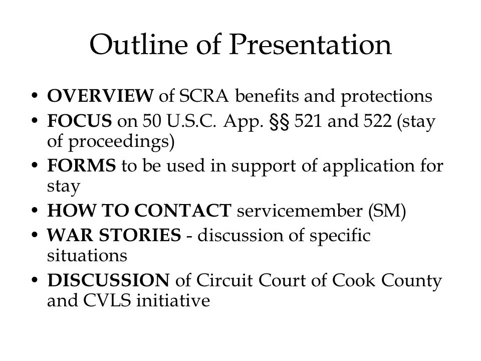 The Servicemembers Civil Relief Act (SCRA) - ppt video online download
