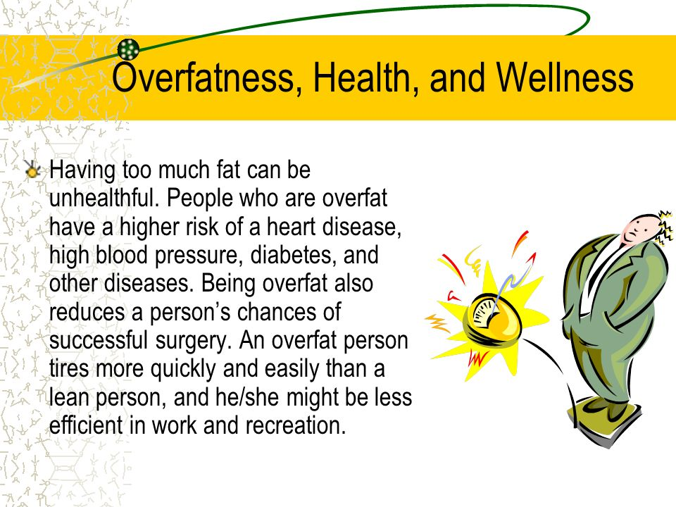 Overfatness, Health, and Wellness