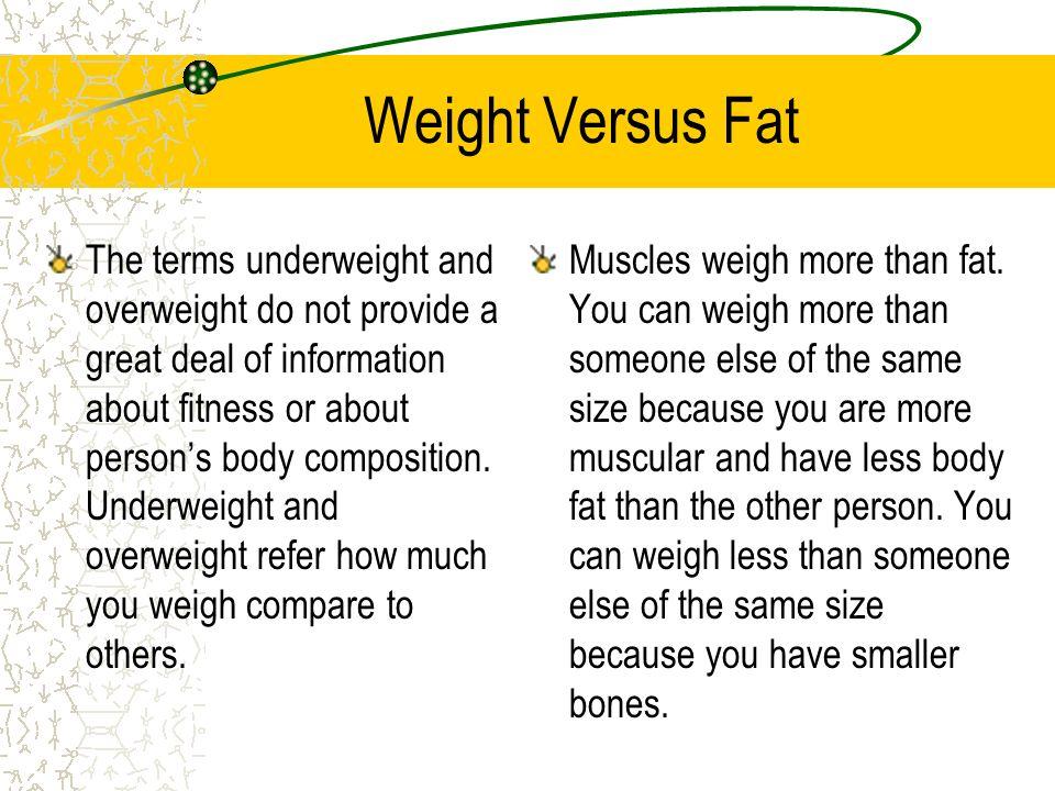 Weight Versus Fat