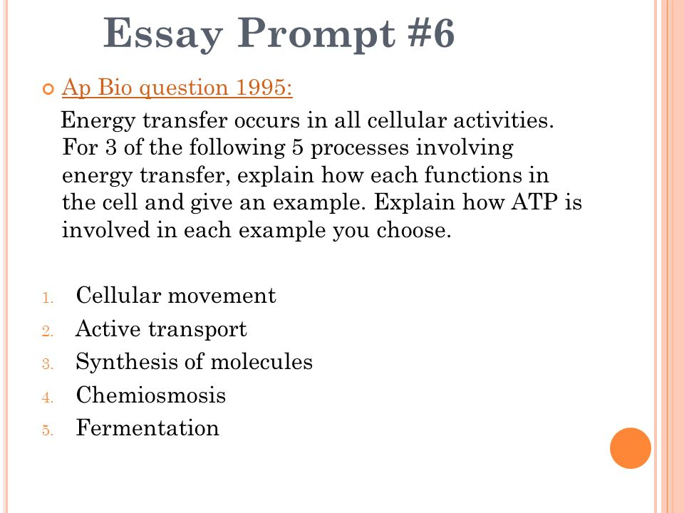 Essay Prompt  Ap Bio Question Ppt Video Online Download  Essay