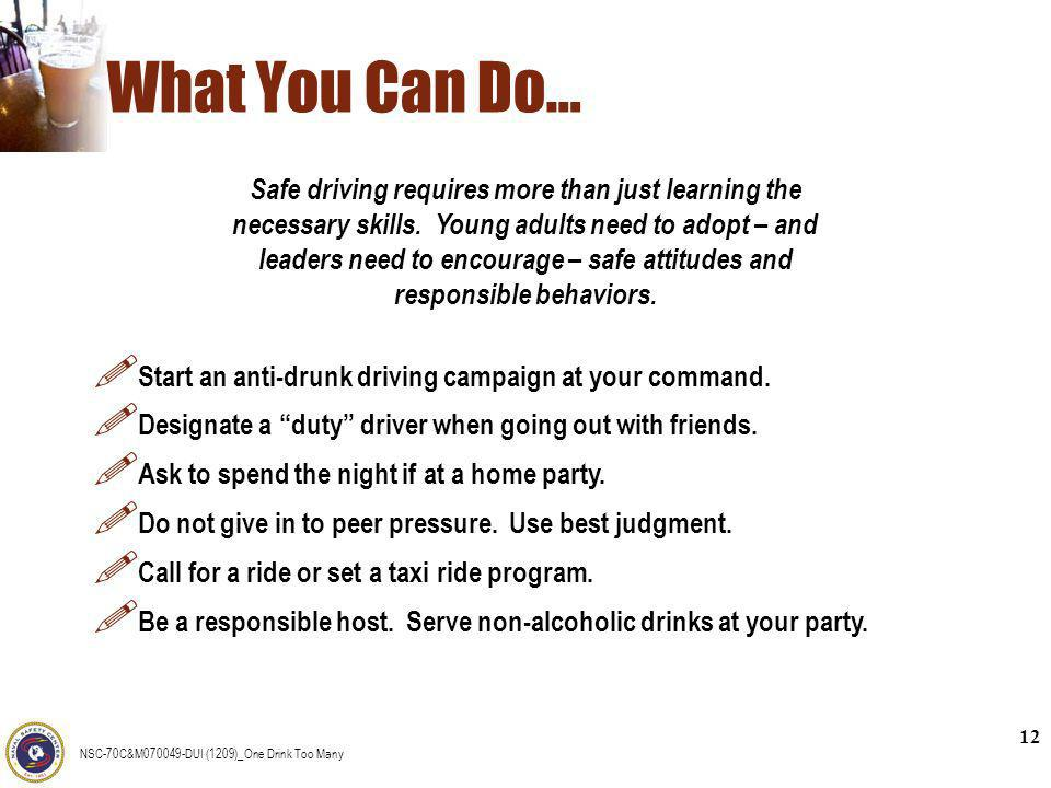 What You Can Do…