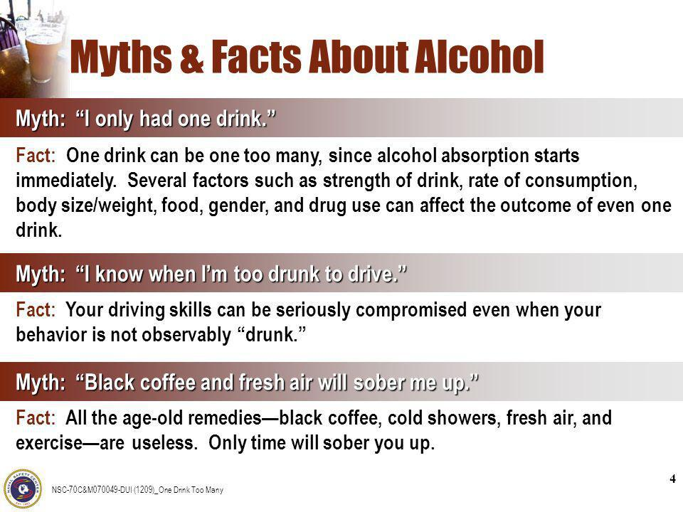 Myths & Facts About Alcohol