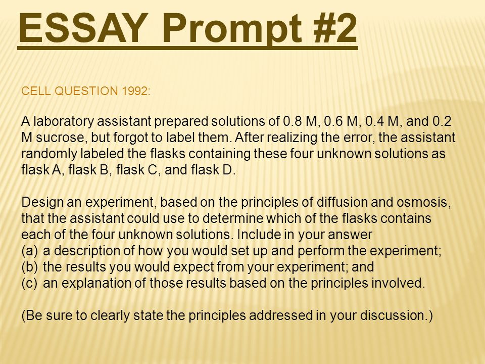 ap bio essay questions You can use the free response questions and scoring guidelines below as you prepare for the ap biology.