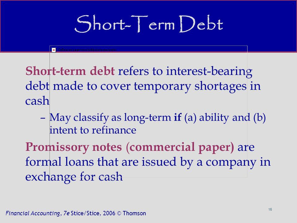 the term commercial paper refers to loans The commercial paper market, the fed alternative to bank loans as a means of short-term financing commercial loans and leases 66 124 136 129.