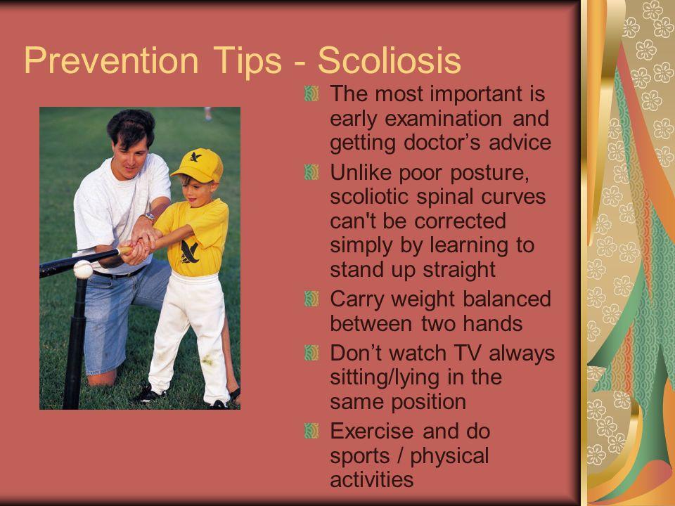 Prevention Tips - Scoliosis