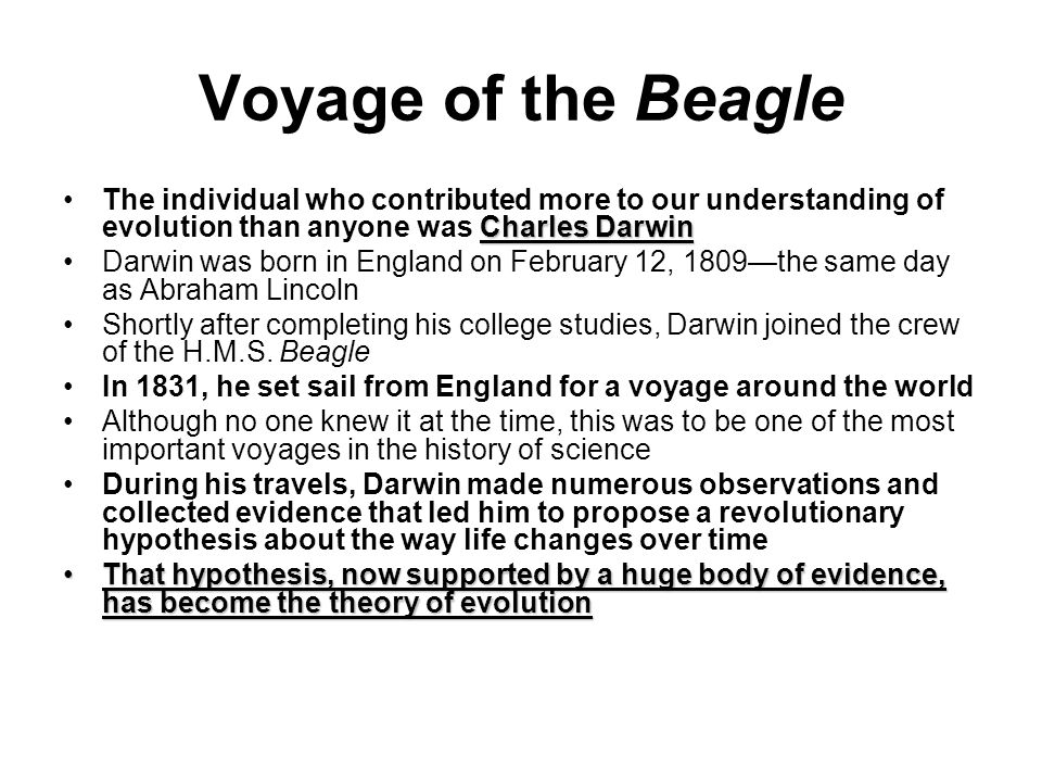 the life history of charles robert darwin the founder of the theory of evolution Charles darwin, in full charles robert darwin, (born february 12, 1809, shrewsbury, shropshire, england—died april 19, 1882, downe, kent), english naturalist whose scientific theory of evolution by natural selection became the foundation of modern evolutionary studies.