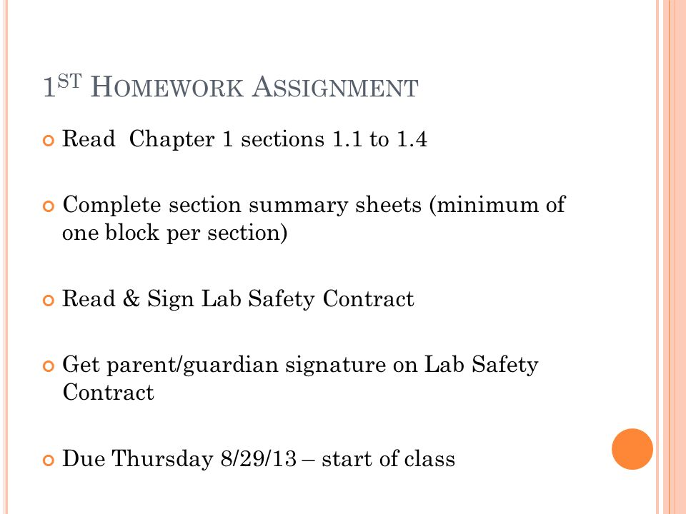Parent homework contract