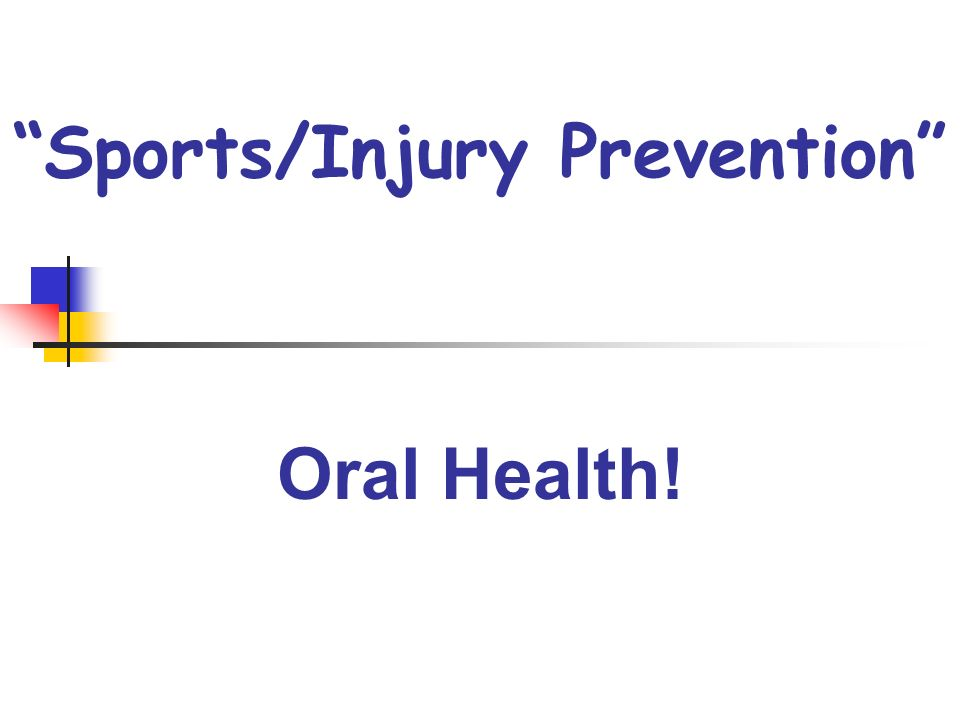 Sports/Injury Prevention