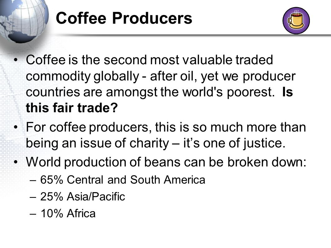countries in the world that produce coffee