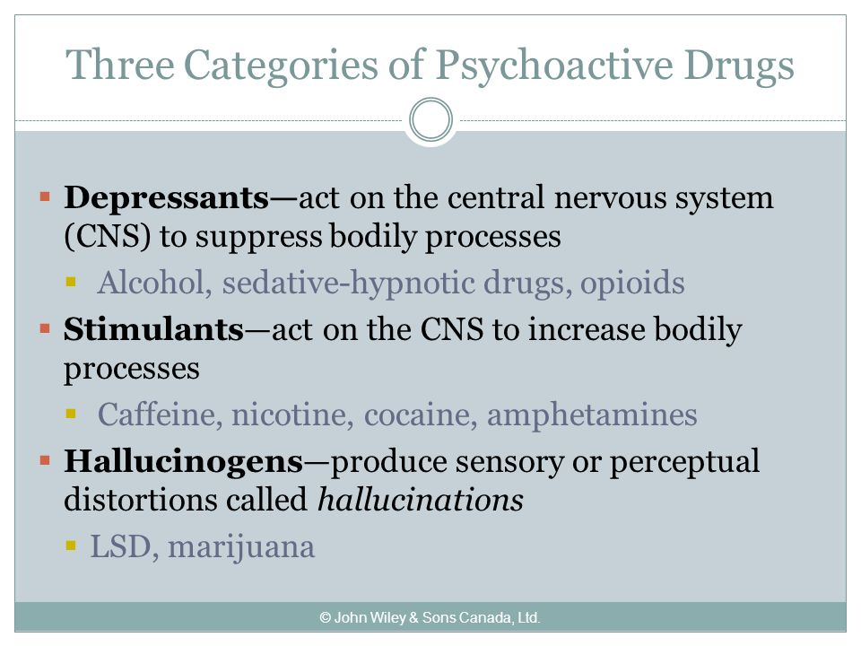 Stimulant drugs and their effects on our consciousness