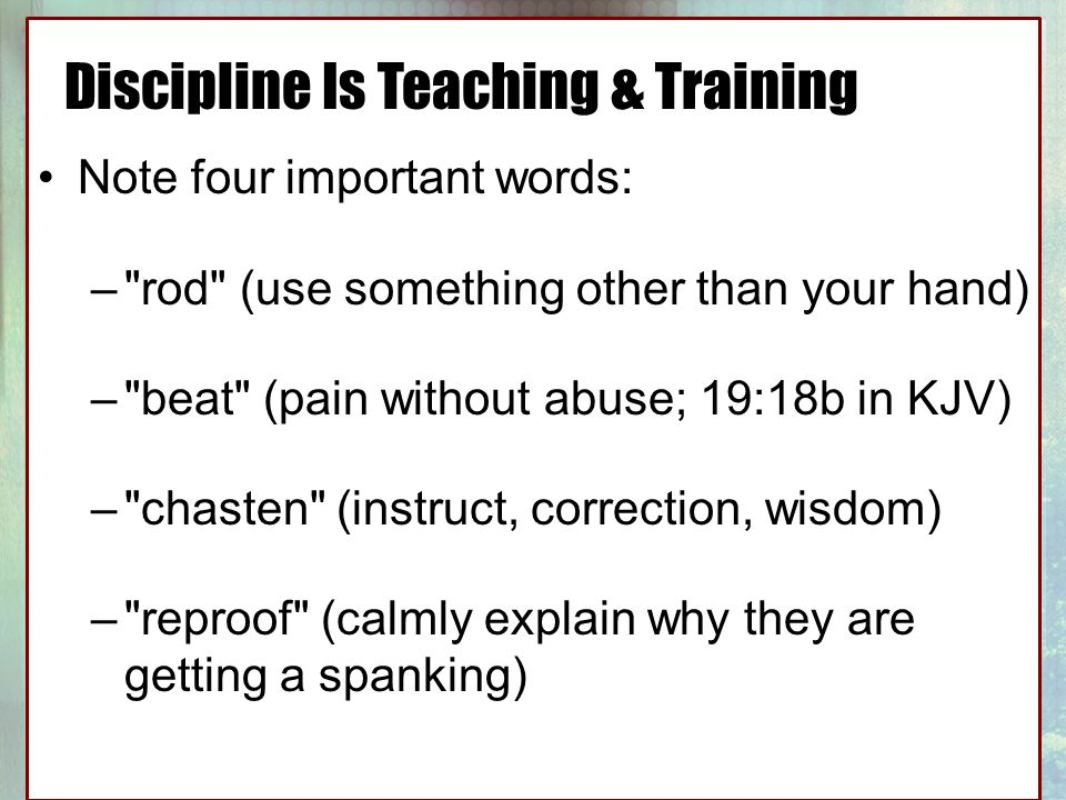 discipline is teaching Discipline definition, training to act in accordance with rules drill: military discipline see more.