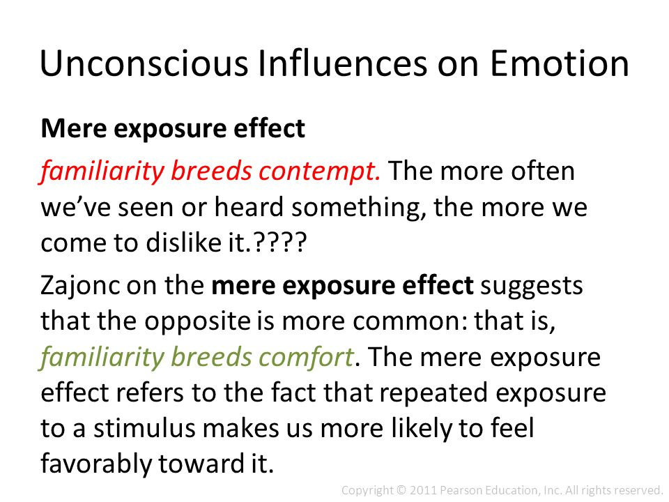 subliminal mere exposure influence psychology essay Thought inspire ™ works by sending subtle positive suggestions into your of subliminal mere exposure effects: influence of stimuli psychology, 1987, o.