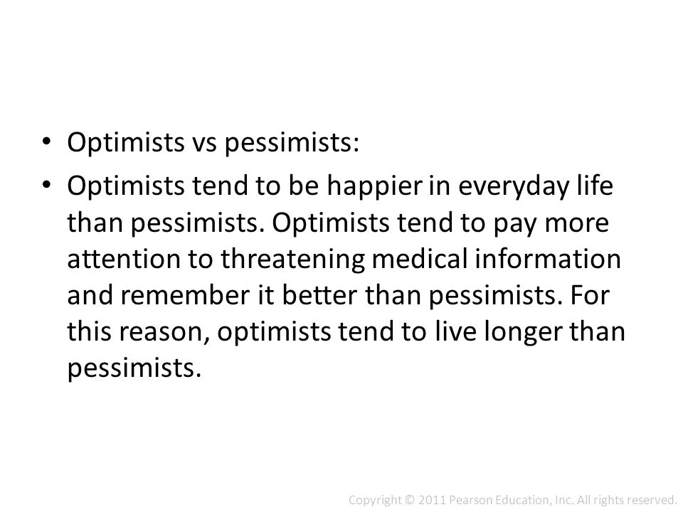 optimists vs pessimists Looking for paper writing examples find them at this page provided by our professionals writerslooking for paper writing examples find them at this page provided.
