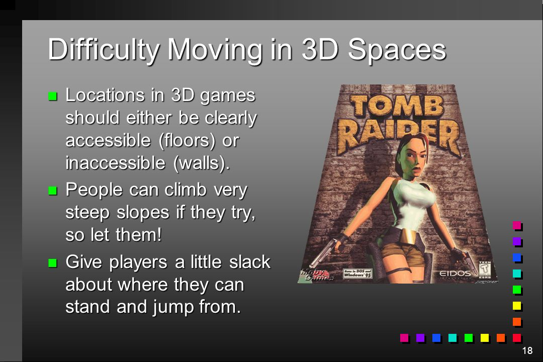 Difficulty Moving in 3D Spaces