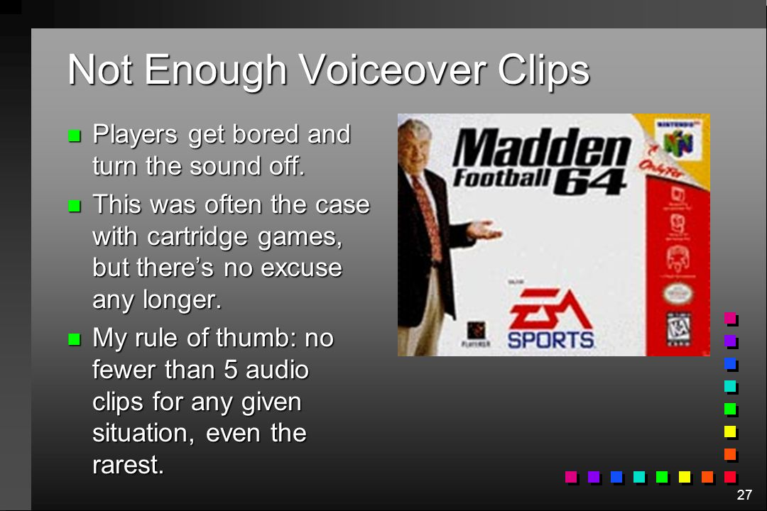 Not Enough Voiceover Clips