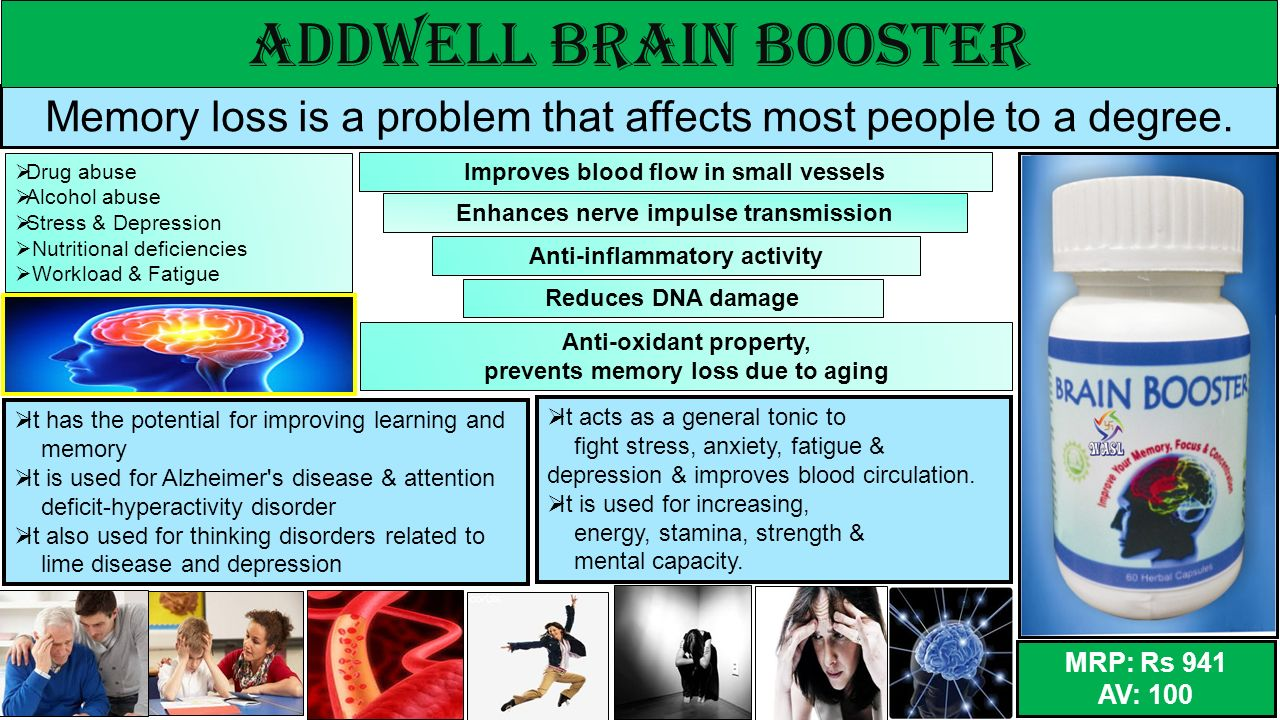 ADDWELL BRAIN BOOSTER Memory loss is a problem that affects most people to a degree. Drug abuse. Alcohol abuse.