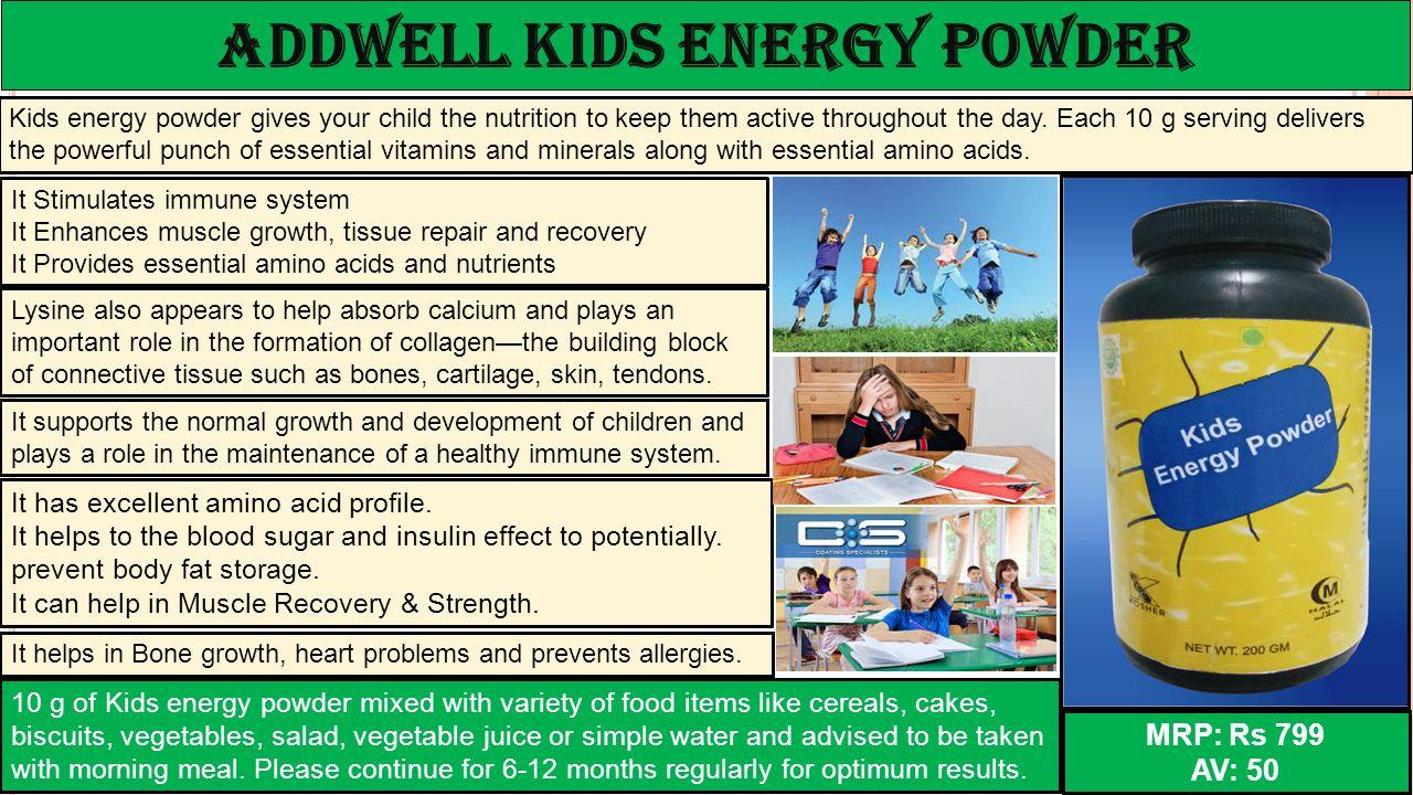 ADDWELL kids energy powder