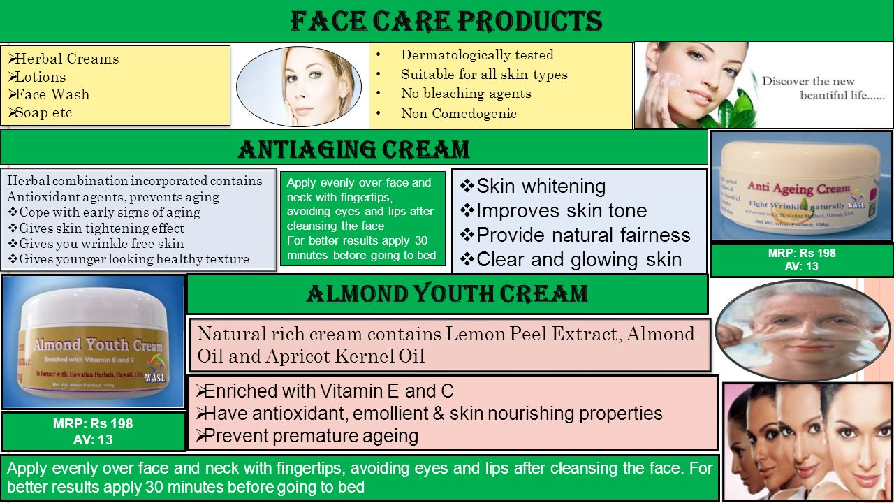 Face Care Products Antiaging Cream Almond Youth Cream Skin whitening