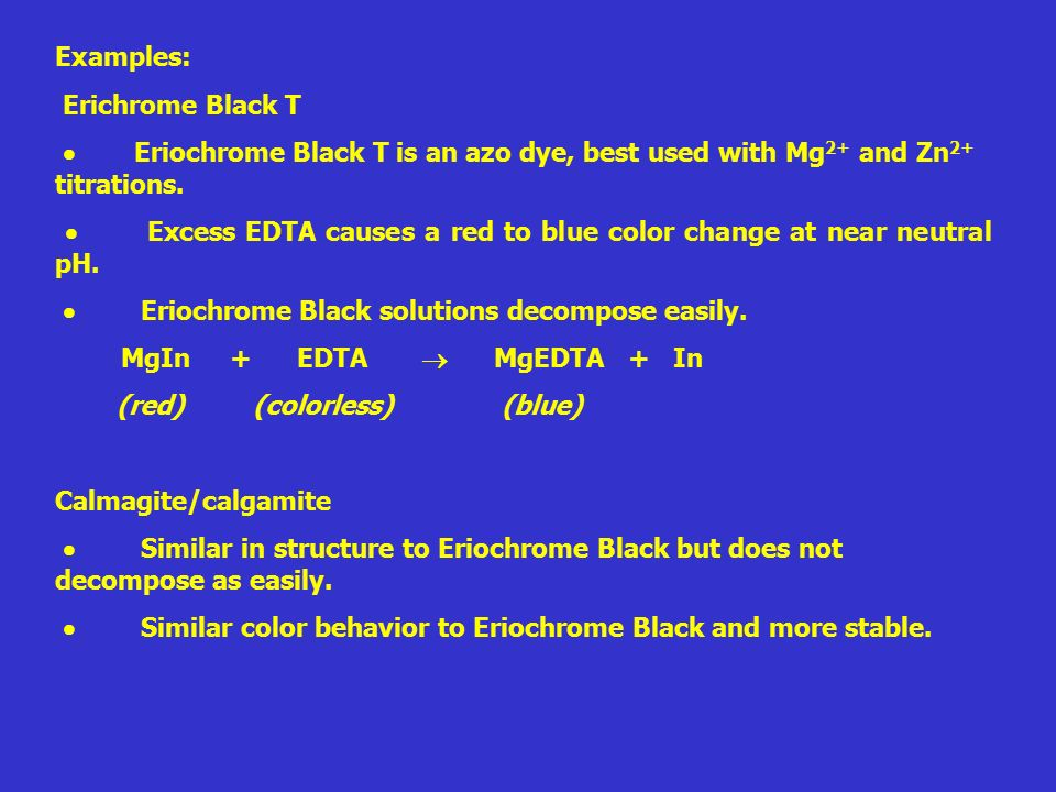 how to prepare eriochrome black t indicator