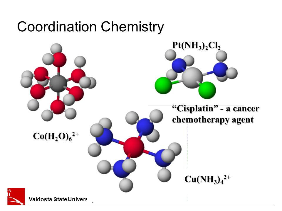 coordination chemistry The transition metals: a survey the first-row transition metals coordination compounds isomerism bonding in complex ions: the localized electron model.